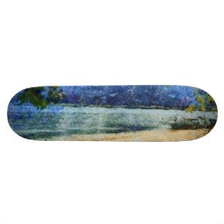 Boat at beach skateboard deck