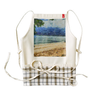 Boat at beach zazzle HEART apron