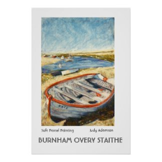 Boat at Burnham Overy Staithe Print or Poster print