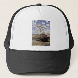 Boat at Low Tide at Fecamp by Claude Monet Trucker Hat
