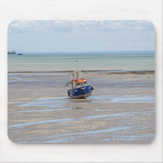 Boat at low tide mousepad
