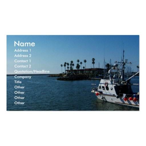 Boat at Oceanside, CA-Business cards Double-Sided Standard Business Cards (Pack Of 100)