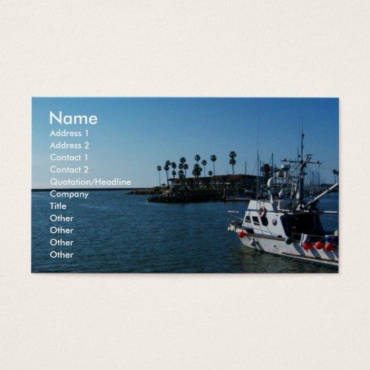 Boat at Oceanside, CA-Business cards