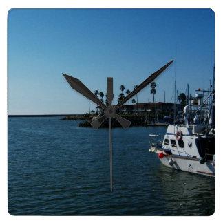 Boat at Oceanside, CA Wall Clock