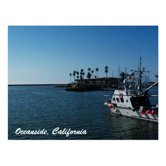 Boat at Oceanside, California Postcard
