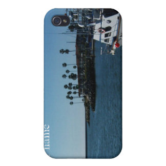 Boat at Oceanside (customize) iPhone 4/4S Case