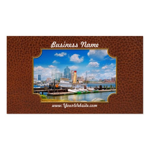 Boat - Balitimore, MD - Steam tug Baltimore 1906 Double-Sided Standard Business Cards (Pack Of 100)