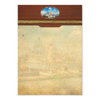 Boat - Balitimore, MD - Steam tug Baltimore 1906 Card