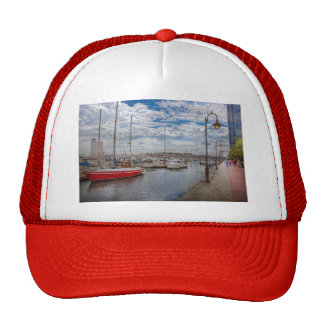 Boat - Baltimore, MD - One fine day in Baltimore Trucker Hat