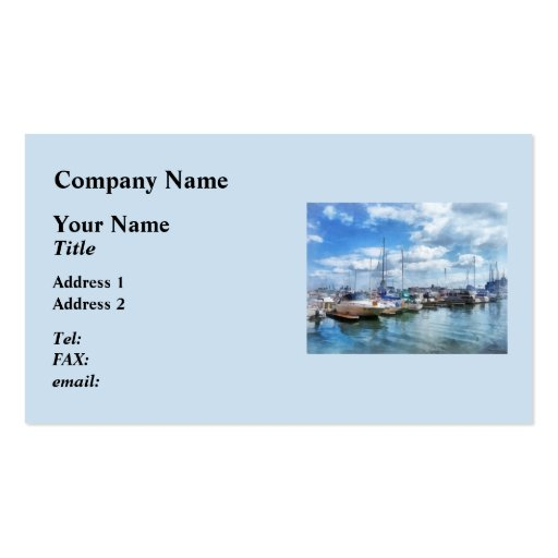 Boat Basin Fells Point Business Card Templates