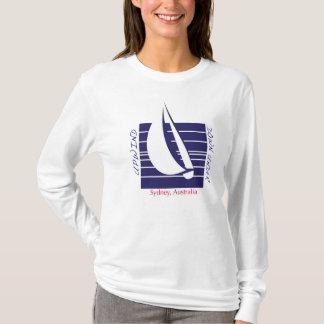 Boat Blue Square_UpDown Sydney t-shirt