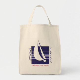 Boat Blue Square_UpDown Wellington bag