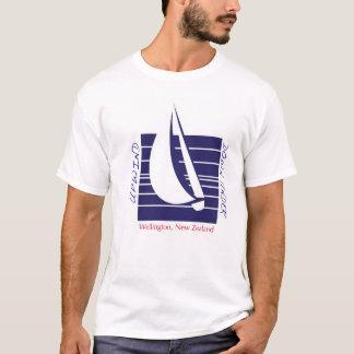 Boat Blue Square_UpDown Wellington t-shirt