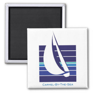 Boat Blues Square_Carmel-by-the-sea magnet