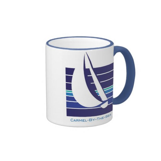 Boat Blues Square_Carmel-by-the-sea mug