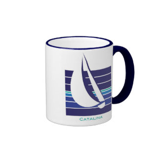 Boat Blues Square_Catalina mug