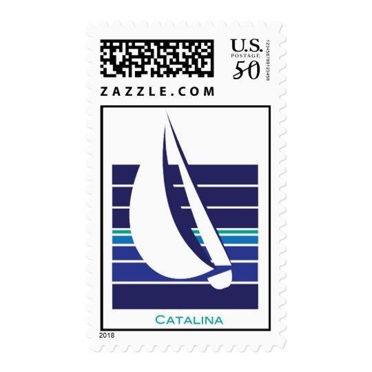 Boat Blues Square_Catalina postage
