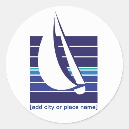 Boat Blues Square_Namedrop sticker