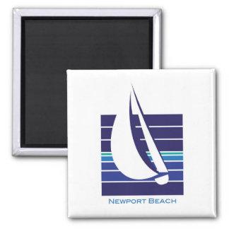 Boat Blues Square_Newport Beach magnet