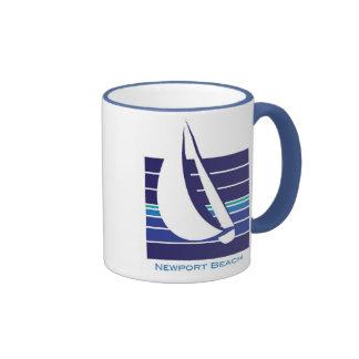 Boat Blues Square_Newport Beach mug