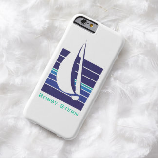 Boat Blues Square_personalized Barely There iPhone 6 Case