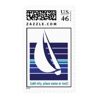 Boat Blues Square_template postage