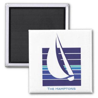 Boat Blues Square_The Hamptons magnet