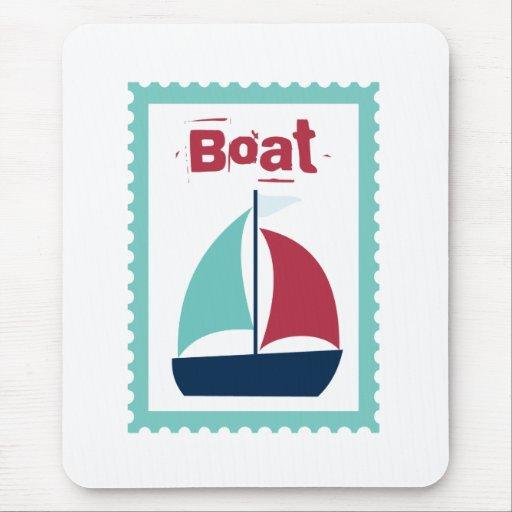 Boat Boating Sailboat Sailing Mouse Pad