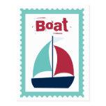 Boat Boating Sailboat Sailing Postcard