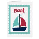 Boat Boating Sailboat Sailing Stationery Note Card