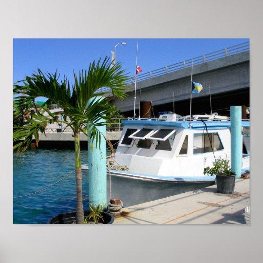 Boat & Bridge, Nassau Poster