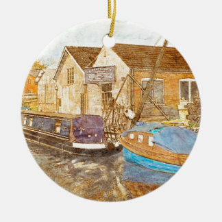 Boat Builders Ceramic Ornament