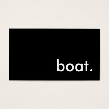 Bride Themed boat. business card