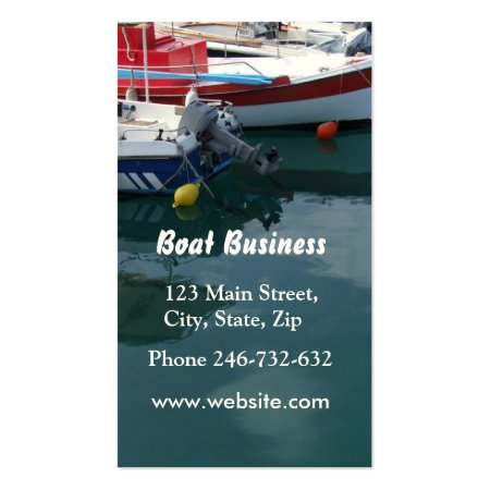 Boats on the Dock Boating Business Cards