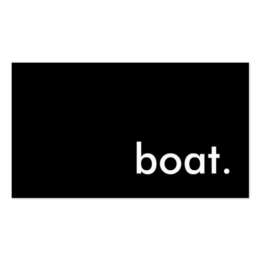 boat. business card template