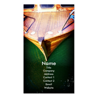 Boat, business card template pack of standard business cards