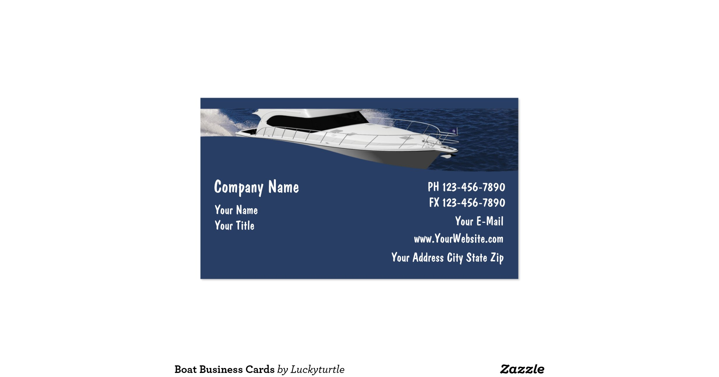 Boat business cards r0438c6b126064f548eedff22d5060597 for Boat business cards
