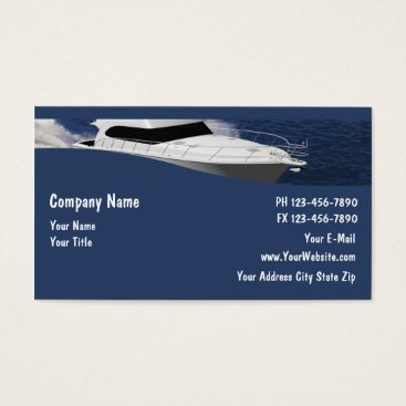 Bride Themed Boat Business Cards