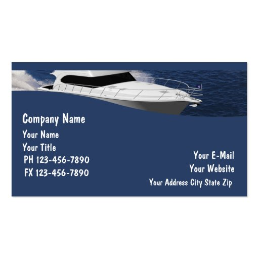 Boat business cards zazzle for Boat business cards