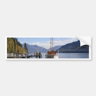 Boat by Harbour Car Bumper Sticker