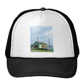 Boat By Oyster Shack Trucker Hat