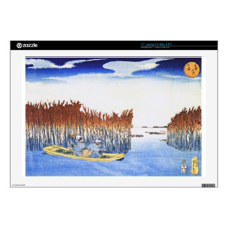 Boat by the Reeds Japanese Woodblock Art Ukiyo-E Laptop Decal