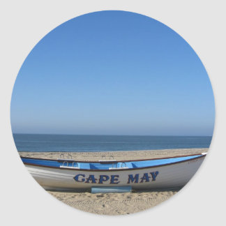 Boat * Cape May, NJ Classic Round Sticker