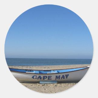 Boat * Cape May, NJ Classic Round Sticker