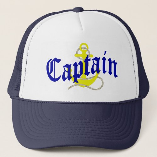 Boat Captain and anchor Trucker Hat