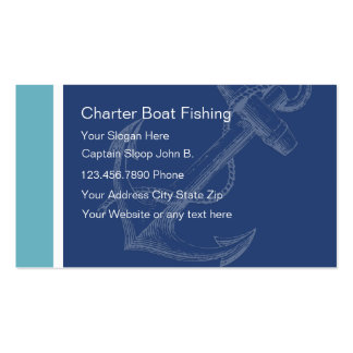 Fishing charter services business cards templates zazzle for Boat business cards