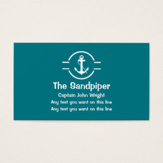 Boat Captain Business Cards