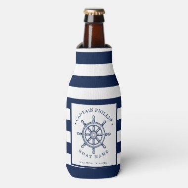 Boat Captain Customized Bottle Cooler