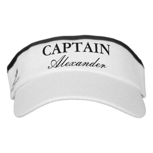 Boat captain hat  Custom sun visor cap for sailor