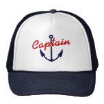 Boat captain hat | Navy blue nautical anchor away